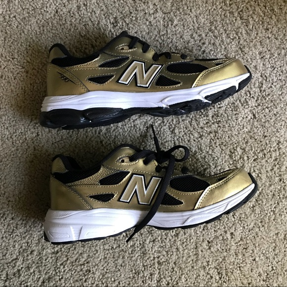 release date 6efb5 f7952 gold and black new balance 990